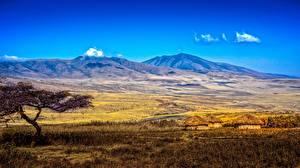 Картинки Горы Пейзаж Африка Tanzania Природа
