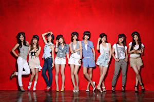 Обои Азиаты SNSD Girls Generation Kpop Девушки