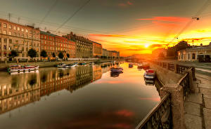Обои Санкт-Петербург Россия Реки Водный канал Города
