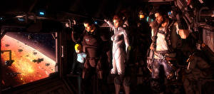 Фотография Mass Effect Shepard StarCraft Star Wars metroid samus aran sarah kerrigan, halo, master chief Jim Raynor Boba Fett  crossover Космос 3D_Графика