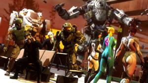 Картинки Shepard Mass Effect Halo Star Wars titan metroid Boba Fett Master Chief Miranda Lawson sarah kerrigan samus aran Фэнтези Девушки 3D_Графика