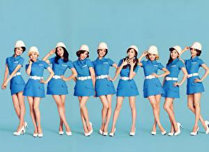 Фото Азиаты Униформа Ноги SNSD Girls Generation Kpop Знаменитости Девушки