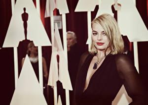 Обои Марго Робби Блондинки Annual Academy Awards Знаменитости Девушки