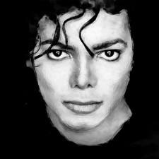 Фото Michael Jackson Рисованные Взгляд Лицо