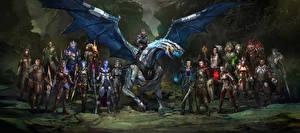Обои Mass Effect Dragon Age Воители Инопланетяне Доспехи Фэнтези
