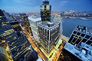 Фото Штаты Небоскребы Здания Нью-Йорк Манхэттен Города