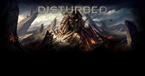 Картинки Логотип эмблема Скала Disturbed Immortalized The Vengeful One Фэнтези