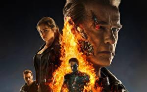 Картинка Терминатор: Генезис Arnold Schwarzenegger Emilia Clarke Фильмы Знаменитости