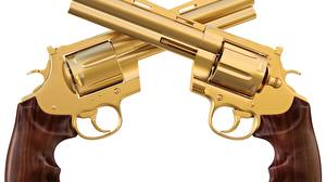 Картинка Крупным планом Пистолеты Револьвер Золотой gold timber военные