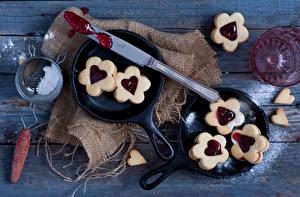 Картинки Печенье Valentine cookies Продукты питания