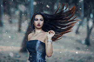 Картинки Макияж Волосы The cold woods Alessandro Di Cicco Девушки