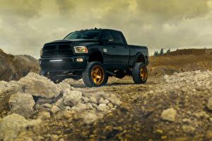 Фотография Dodge Камень Черный Ram ADV.1 Wheels Truck Машины