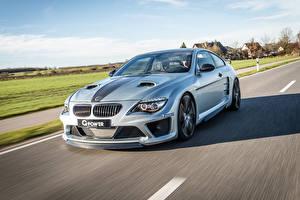 Картинки BMW Дороги Едет 2015 G-Power M6 Hurricane CS Ultimate E63 машина