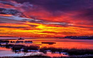 Фото Рассветы и закаты Небо Облака Природа