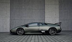 Картинка Lamborghini Сбоку Люксовые Wheelsandmore Murcielago LP720-4 SV SuperVeloce Авто