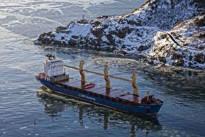 Картинка Корабли Контейнеровоз Море Сверху Kurt Paul