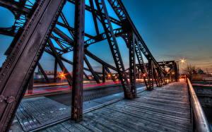 Картинка США Мост Чикаго город HDRI Города
