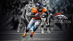 Картинка Логотип эмблема Мужчины Американский футбол Шлема Бег Montee Ball Denver Broncos Знаменитости