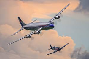 Обои Самолеты Пассажирские Самолеты Рисованные Авиация