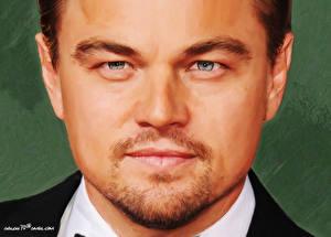 Обои Леонардо Ди Каприо Рисованные Лица Смотрят