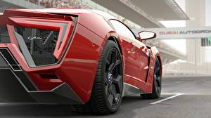 Картинки Красный Колесо Project Cars Lykan Hypersport Community Assisted Racing Simulator Slightly Mad Studios SupercarSlightly Mad Studios Madness Engine Машины