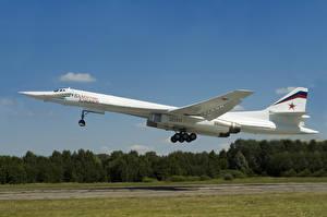 Фотография Самолеты Ту-160 Взлет Летящий