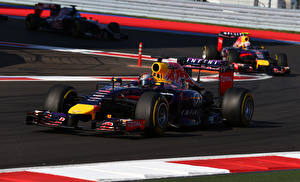 Обои Формула 1 Sebastian Vettel Sochi Автомобили