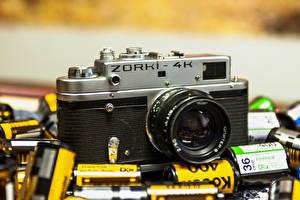 Обои Ретро Крупным планом Фотоаппарат ZORKI-4K фото