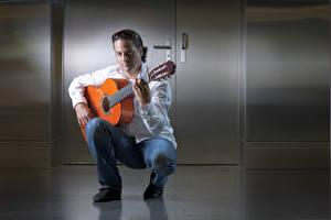 Фотографии Мужчины Гитара David Музыка
