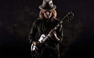 Картинки Гитара Шляпа Jake Shepard