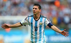 Обои Футбол Мужчины Lionel Messi World Cup 2014 10, FC Barcelona спортивная Знаменитости