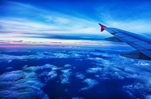 Картинки Самолеты Небо Облака Авиация