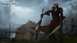 Картинка Dragon Age Эльфы Мечи Inquisition
