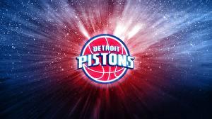Картинки Баскетбол Логотип вензель Detroit Pistons NBA Спорт