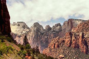 Обои Штаты Горы Зайон национальнай парк Utah