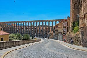 Картинка Испания Дороги Улица Viaduct Города