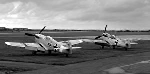 Фото Самолеты Истребители Двое Hispano HA-1109/1112 Buchon Авиация