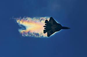 Фотографии Самолеты Истребители Sukhoi PAK FA Авиация