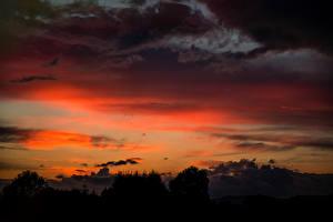 Фото Рассветы и закаты Облака Природа
