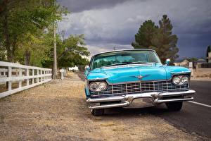 Фотографии Chrysler Спереди Голубых 1957 Imperial автомобиль