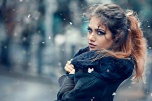 Фото Макияж Шатенка Cold outside Alessandro Di Cicco Девушки