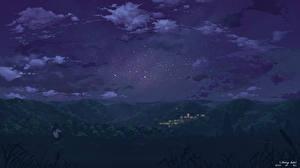 Картинка Звезды Ночь yuuko-san Космос
