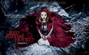 Обои для рабочего стола Amanda Seyfried Капюшон Плащом Red Riding Hood, 2011 Фильмы Знаменитости