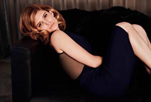 Картинка Kate Mara Шатенки Yahoo Style Знаменитости Девушки