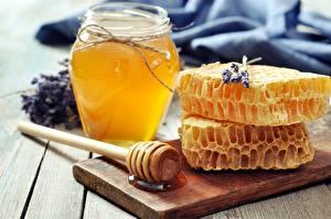 Фото Мед Пчелиные соты Банка Продукты питания
