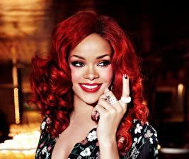 Фотографии Rihanna Мейкап Рыжая Музыка Животные Девушки
