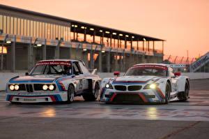 Фото BMW Два Z4 GTLM 3.0 CSL race car спортивный Автомобили