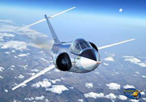 Обои Самолеты Рисованные Истребители Lockheed F-104A Starfighter Авиация фото