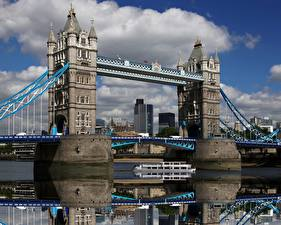 Обои Англия Мосты Лондоне Tower Bridge город