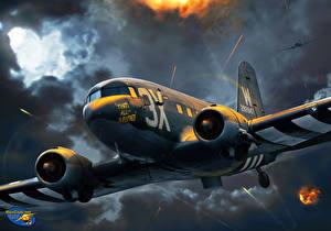 Обои Самолеты Рисованные C-47 'That's All Brother' Авиация фото